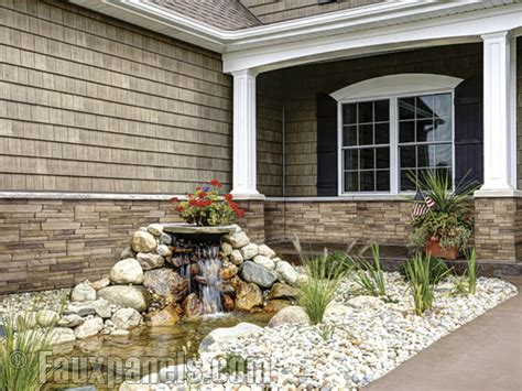 how to install rock siding for houses fauxpanels com new versette line is its first cultured stone siding