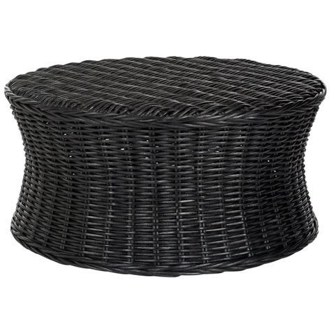 black wicker ottoman safavieh ruxton storage black wicker ottoman