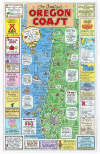 oregon coast map maps usa