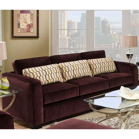 eggplant colored sofa simmons beautyrest venice eggplant sofa eggplant color