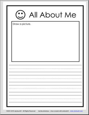 abcteach printable writing paper all about me primary lines writing i abcteach com abcteach