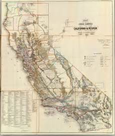 vintage map california historic maps