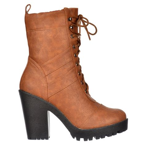 boots with laces shoekandi ankle boot lace up with block heel
