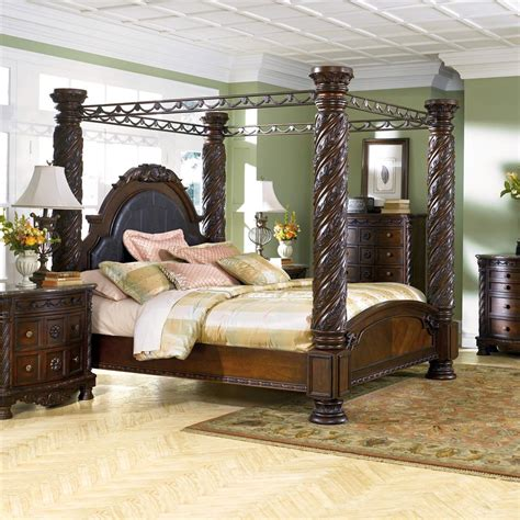 ashley furniture canopy bed millennium north shore king canopy bed dunk bright