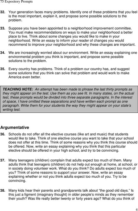 how to write better college essays expository 1 75 expository prompts pdf