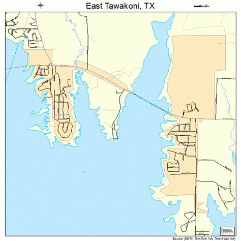 east texas map east tawakoni texas map 4822276