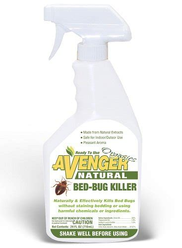 organic bed bug spray avenger natural bed bug killer ready to use 24 oz spray