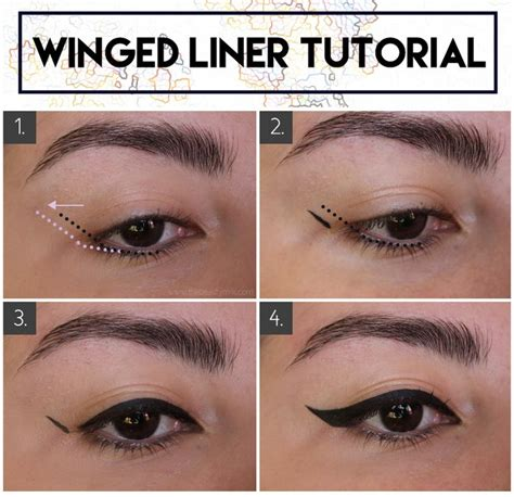 eyeliner tutorial with brush winged eyeliner for hooded how to techniques and product
