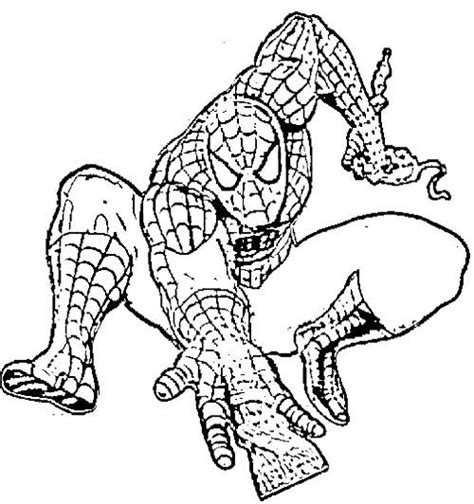 spiderman attack enemies coloring pages kids coloring