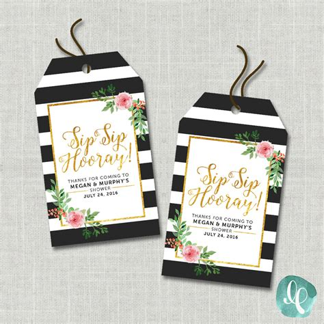 printable thank you tags for bridal shower favors floral bridal shower printable thank you tags sip by