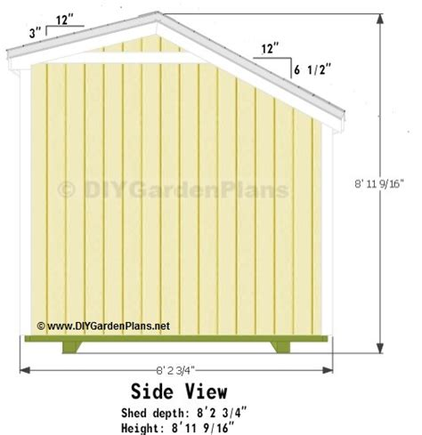 Shed Plans 10 X 8 by 10x8 Saltbox Shed Plans