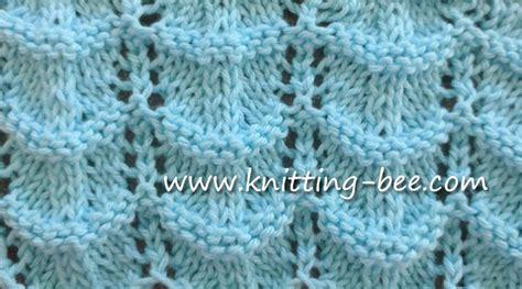 crochet wave ripple pattern stitch knitting bee knit ripple stitches knitting bee 1 free knitting patterns