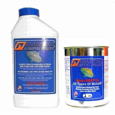 best pontoon boat aluminum cleaner sharkhide aluminum cleaner and polish