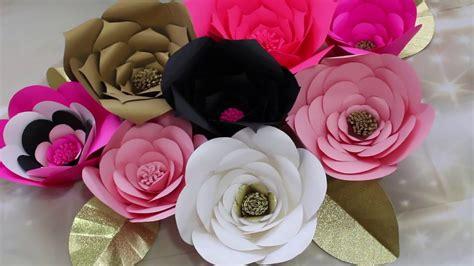 imagenes de flores blancas y negras diy como hacer flores gigante hoja y decoracion paso a
