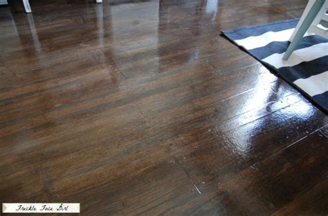Faux Wood Flooring by Remodelaholic High Style Low Cost Painted And Stenciled