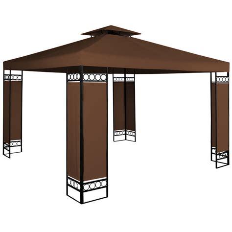 pavillon 250x250 stalowy mocny pawilon 3x3 brazowy namiot ogrodowy brązowy