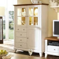 wohnzimmer vitrine wohnzimmer vitrine galini aus kiefer in wei 223 wohnen de