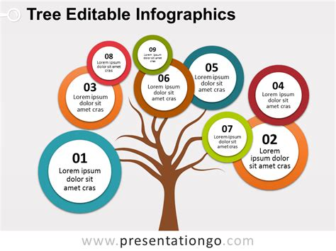 Free Bubbles Tree Diagram For Powerpoint Tree Trunk With Tree Diagrams Ppt