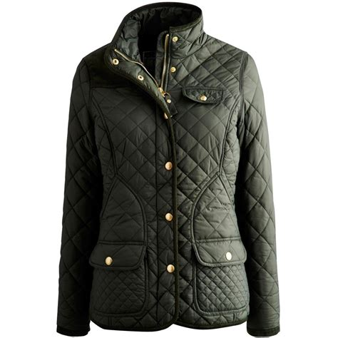 Womens Green Quilted Jacket by Joules Calverley Premium Quilted Jacket Green