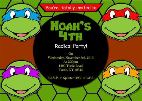 47 best images about ninja turtles party on pinterest