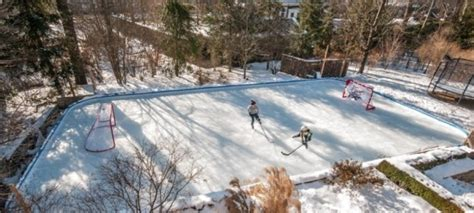 backyard rink liners ice rink back yard ice rink