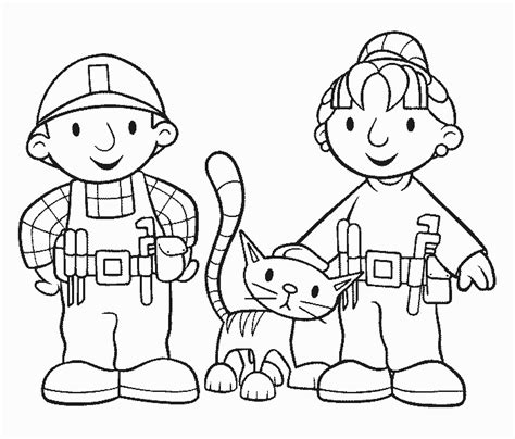 bob builder coloring pages coloring bob builder