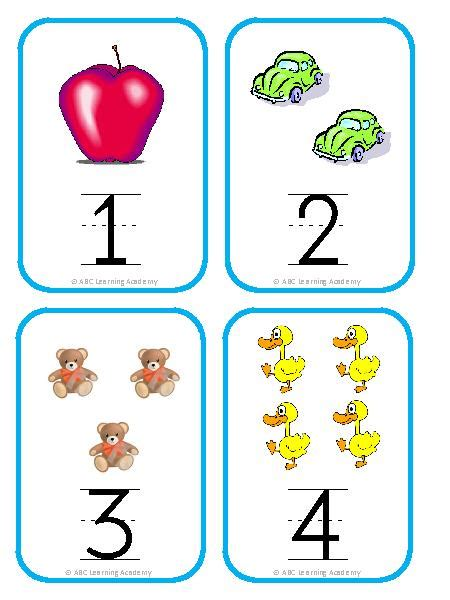 printable flashcards for preschool 9 best images of kindergarten printable numbers flash