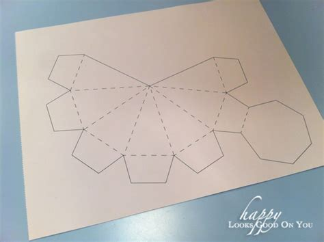 How To Make Diamonds Out Of Paper - 7 best images of 3d template printable 3d paper