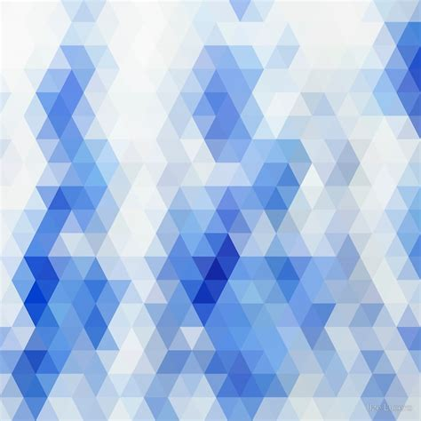 geometric pattern in blue quot white blue triangle geometric pattern quot by ilze lucero