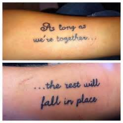 Love Quote Tattoo Ideas by 25 Best Couple Tattoo Quotes On Pinterest Couple Tattoo