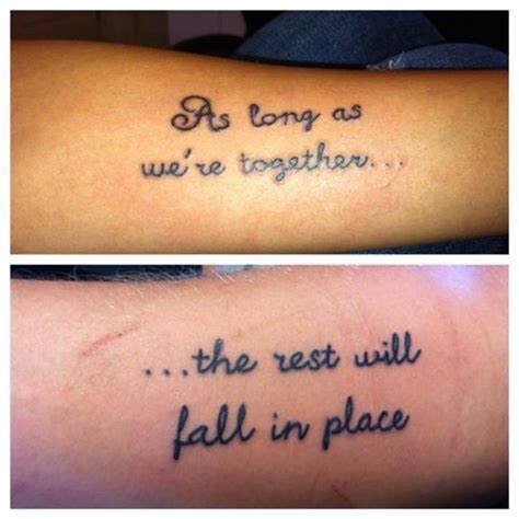 quote tattoos for couples 25 best quotes on