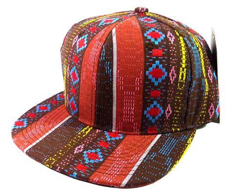 Exclusive Snapback Brim Pattern wholesale blank aztec snapbacks cap pattern brown