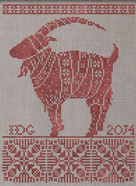 cute goat pattern julbocken the yule goat instant download pdf cross