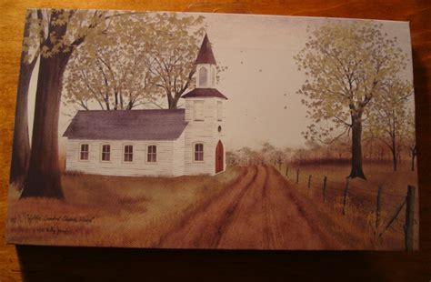 primitive country home decor old country primitive church americana canvas painting