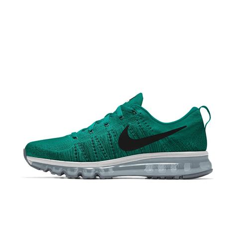 nike flyknit air max running shoes nike flyknit air max id s running shoe in green for