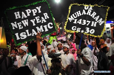 new year in indonesia 2015 muslims celebrate islamic new year xinhua