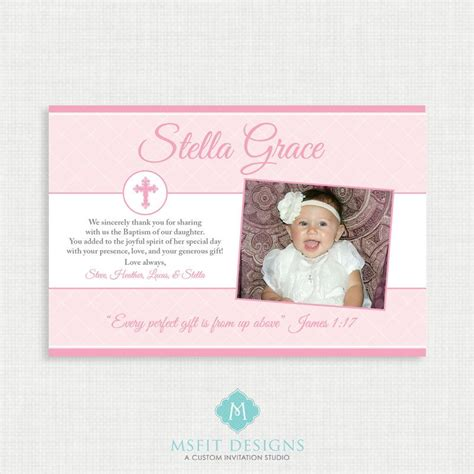 unisex thank you card template printable baptism thank you card printable thank you