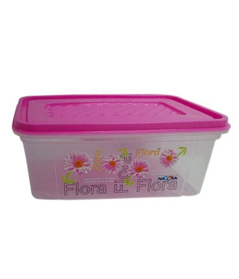pink food storage containers nayasa pink 2000 ml plastic food storage bread box