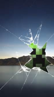 Creeper cracked glass wallpaper i use it mostly as a lock screen but