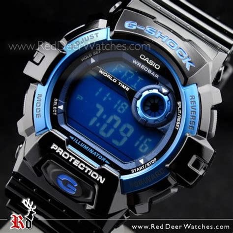 Gshock W01s Black L Blue buy casio g shock world time alarm high intensity led