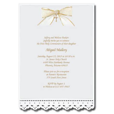 communion invitations templates lace cut invitation with bow communion invitations