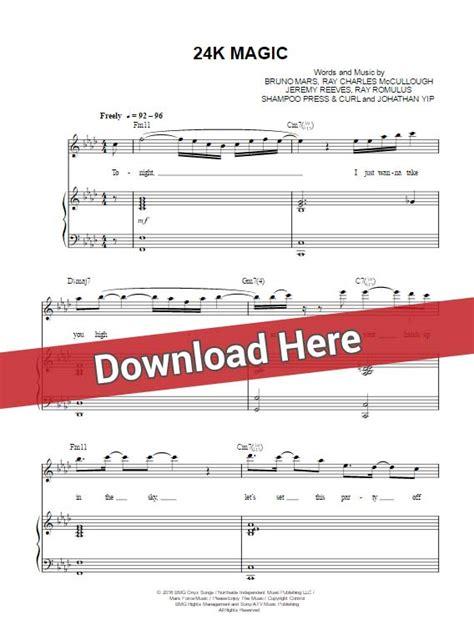 bruno mars piano mp3 download bruno mars 24k magic sheet music chords piano notes