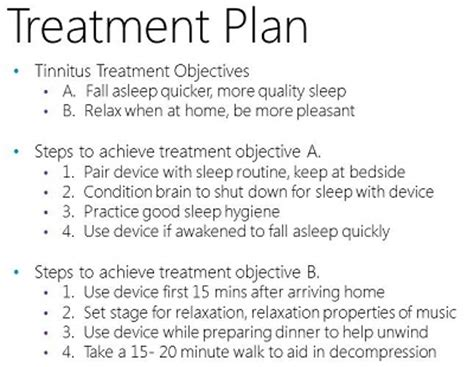 reality show treatment template embracing the tinnitus patient treatment and