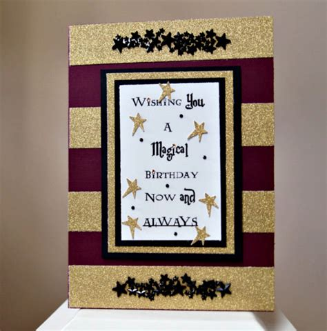 harry potter birthday card template the answer is chocolate harry potter birthday card