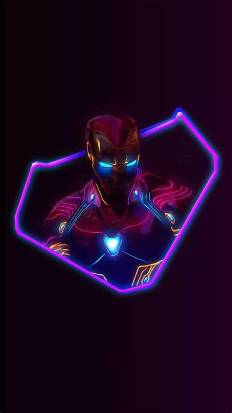 wallpaper iphone 6 neon iron man neon avengers infinity war iphone wallpaper