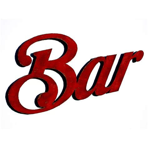 bar sign bar wall art bar sign 40 wide choose your color with