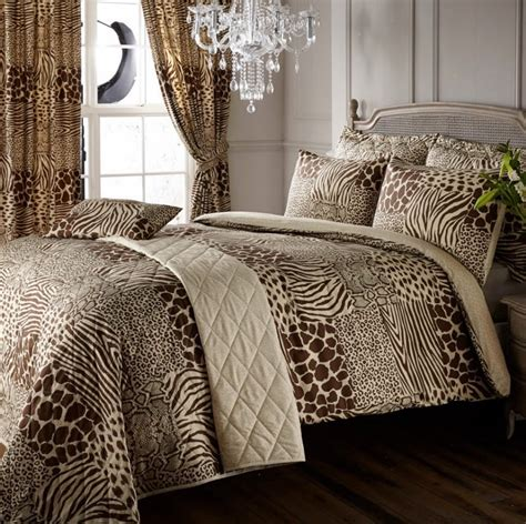 8pc Safari Animal Print Super King Duvet Cover Curtains Safari Bedding
