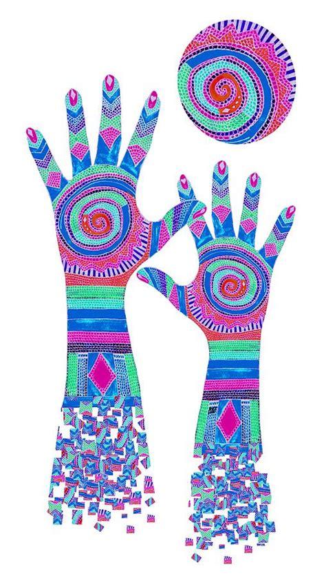 How To Use Duvet Cover Aboriginal Hands Pastel Transparent Background Digital Art