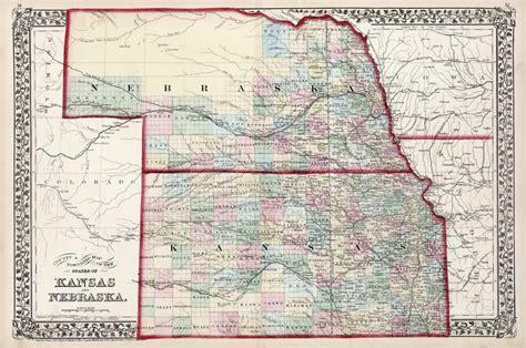 printable nebraska road map antique maps of kansas