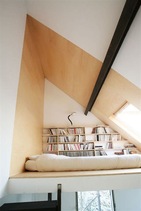 Livingroom Storage loft bedroom library design